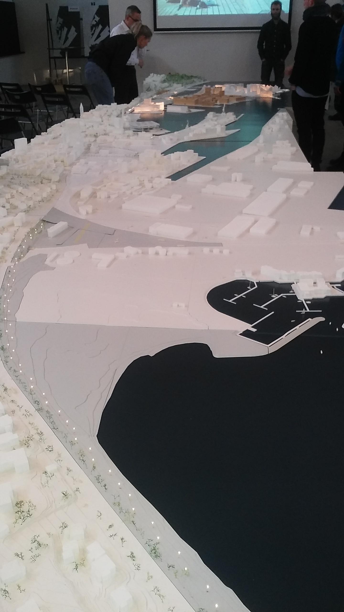Aarhus harbour model.